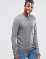 Asos Cable Sweater in Gray