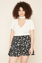 Forever 21 FOREVER 21+ Plus Size Floral Print Shorts
