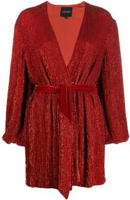 retrofete long-sleeve mini dress