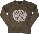 Imoga Rose Intarsia Sweater-GREY