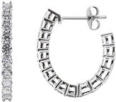 JCPenney FINE JEWELRY DiamonArt Cubic Zirconia Sterling Silver J-Hoop Earrings