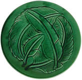 One Kings Lane Vintage Green Majolica Feathers Plate