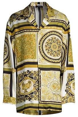 Versace Mixed Print Pajama Shirt