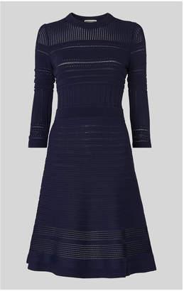 Whistles Pointelle Detail Knit Dress