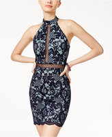 B. Darlin Juniors' Cutout-Back Lace Bodycon Dress