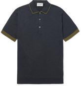 John Smedley Nailsea Contrast-Tipped Merino Wool Polo Shirt
