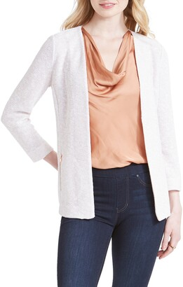 Nic+Zoe Copper Shine Zip Pocket Knit Jacket