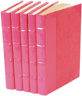 One Kings Lane S/5 Patent-Leather Books, Pink