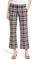 Tory Burch Women's Garrett Plaid Crop Flare Pants