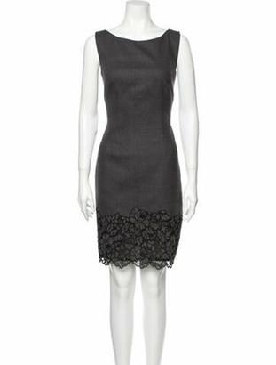Luisa Spagnoli Bateau Neckline Mini Dress w/ Tags Grey