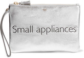 Anya Hindmarch Small Appliances metallic textured-leather pouch