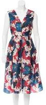 Erdem Floral Print Silk Dress w/ Tags