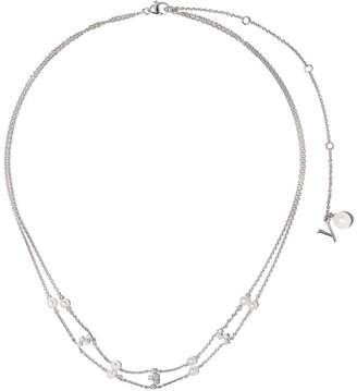 Yoko London 18kt white gold diamond pearl Trend necklace