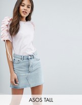 ASOS Tall ASOS TALL T-Shirt with Ruffle & Drawstring Sleeve Detail