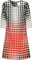 Grid print dress