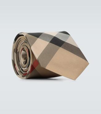 Burberry Monston checked silk tie