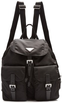Prada Classic leather-trimmed nylon backpack