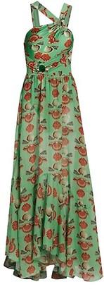 PatBO Seashell Asymmetric Maxi Dress
