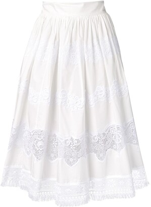 Dolce & Gabbana lace panel skirt