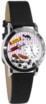 Whimsical Watches Women's S0130013 Veterinarian Black Leather Watch