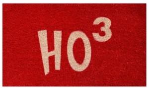 """Home & More Ho Ho Ho 17"""" x 29"""" Coir/Vinyl Doormat Bedding"""