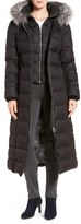 Soia & Kyo Women's Down Maxi Coat With Genuine Fox Fur Trim Hood