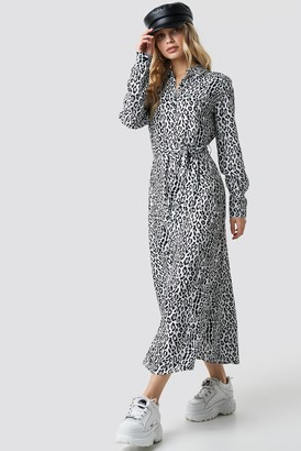 NA-KD Leopard Printed Shirt Dress