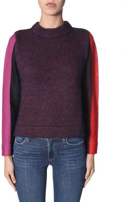 Paul Smith Sweater With Striped Sleeves