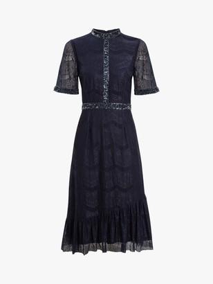 Raishma Georgia Lace Bodice Dress, Navy