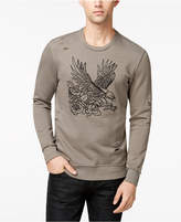 INC International Concepts I.N.C. Men's Embroidered-Eagle Destroyed Sweatshirt, Created for Macy's