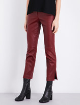 Helmut Lang Skinny straight leather trousers