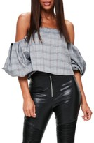 Missguided Women's Puffball Sleeve Off The Shoulder Top