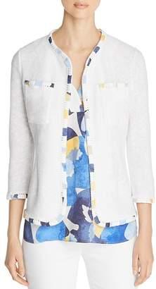 Nic+Zoe Staycation Contrast-Trim Jacket