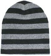 Alexander Wang Black/grey Wool Striped Beanie