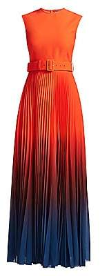 SOLACE London Women's Willow High-Neck Belted Maxi Dress
