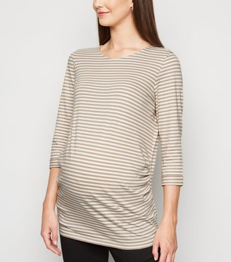 New Look Maternity Stripe Long T-Shirt