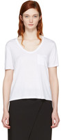 Alexander Wang White Classic Cropped Pocket T-Shirt