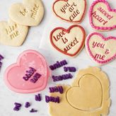 Sur La Table Sweetheart Cookie Cutter & Message Stamp Set