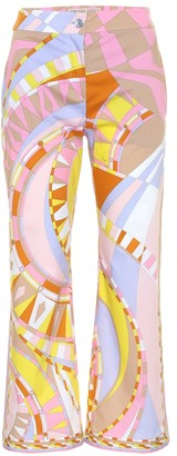 Emilio Pucci Printed high-rise stretch-cotton pants
