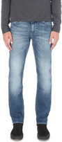 HUGO BOSS Faded slim-fit tapered jeans