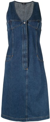 Chanel Pre Owned Sleeveless Denim Dress