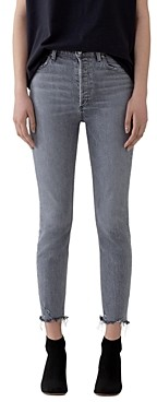 AGOLDE Nico High Rise Cropped Skinny Jeans in Risk