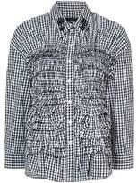 Simone Rocha gingham ruffle shirt