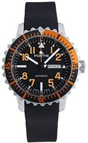 Fortis B-42 Marinemaster Day/Date GMT Automatic Steel Orange Mens Strap Watch 670.19.49 K