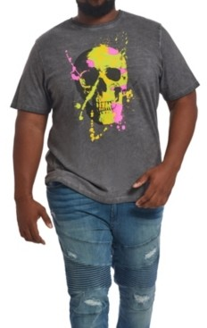 Mvp Collections By Mo Vaughn Productions Mvp Collections Men's Big & Tall Neon Skull T-Shirt
