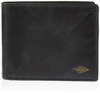 Fossil Men's Ryan Leather Rfid Blocking Bifold With Flip Id Wallet