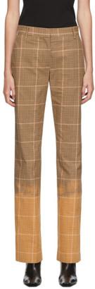 MSGM Brown Dip Bleach Trousers