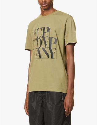 C.P. Company Logo-print crewneck cotton-jersey T-shirt