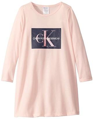 Calvin Klein Kids Long Sleeve Dress (Little Kids/Big Kids) (Crystal Pink) Girl's Pajama