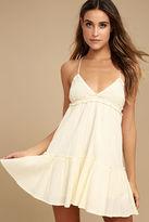 Billabong Sunshine Baby Cream Babydoll Dress